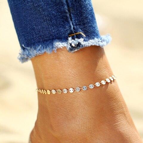 Купить простые женские сандалии с монетами украшения для ног новые