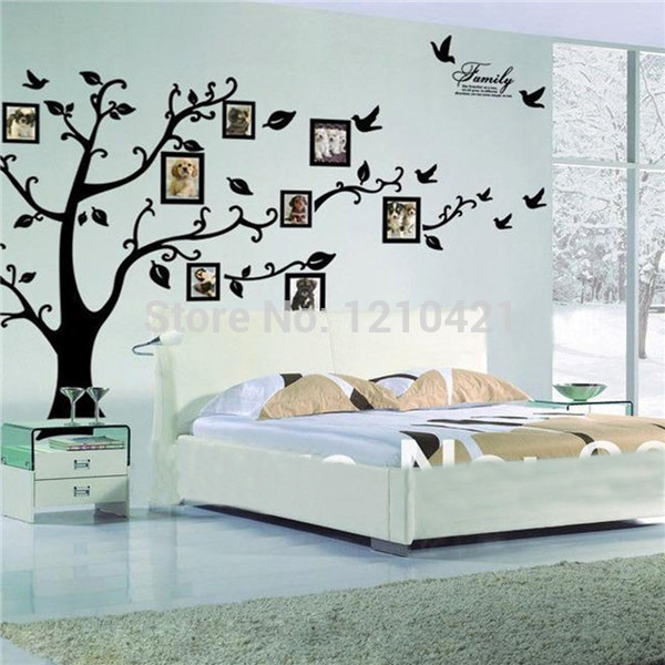 2014 New Picture Frame Tree Wall Decal Quality Sticker Includes