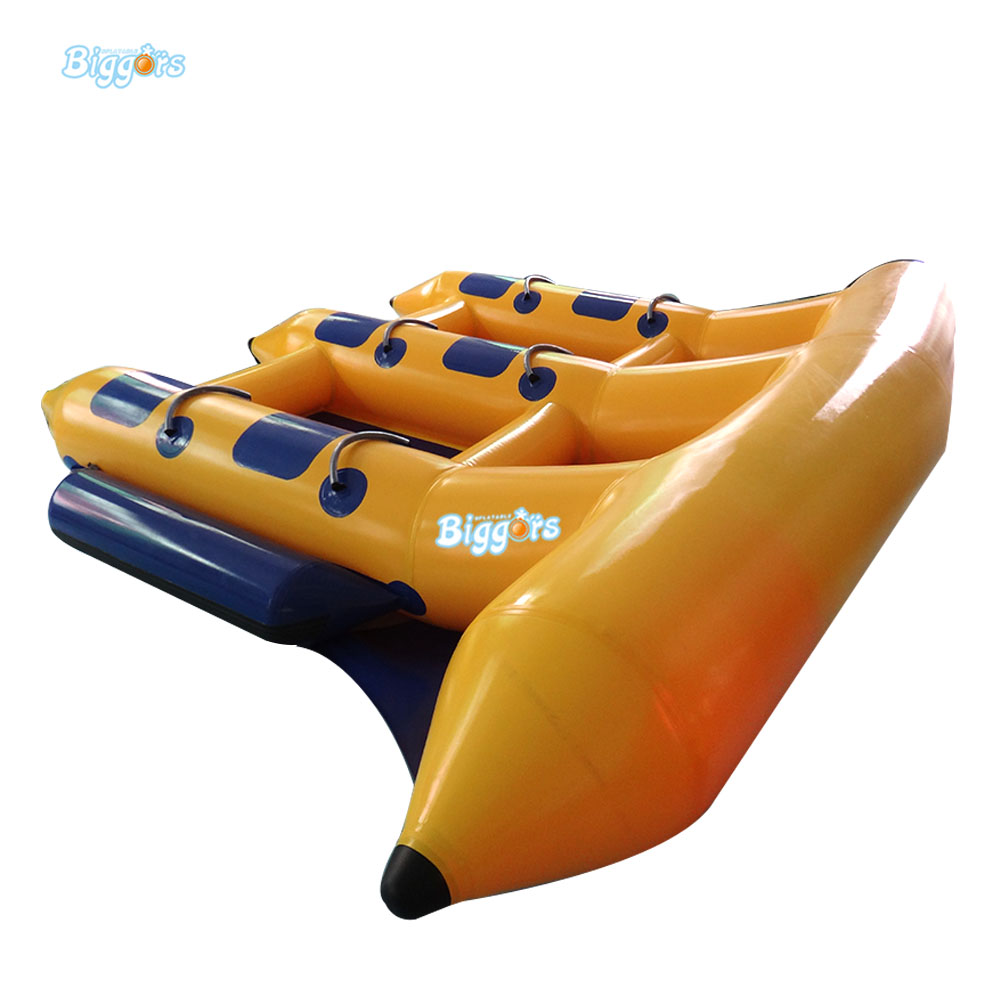 Inflatable Biggors Sea Games Inflatable Flyfish Banana Boat For Advanture цена 2017