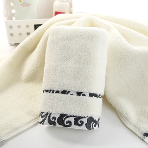 Image 2 - High quality, thick gift, pure cotton towel, cloud embroidery, printed logo towel wholesale.