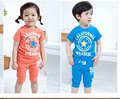 Retail selling kids boy girl summer cotton california stars 58 sets, Children clothing short sleeve shirt +pants Free shipping