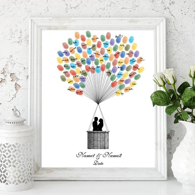 fingerprint balloon Hot wedding air guest book