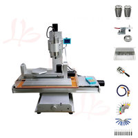 5 axis cnc router 3040 vertical metal engraving machine 2200W spindle with cutter clamp collet vise drilling
