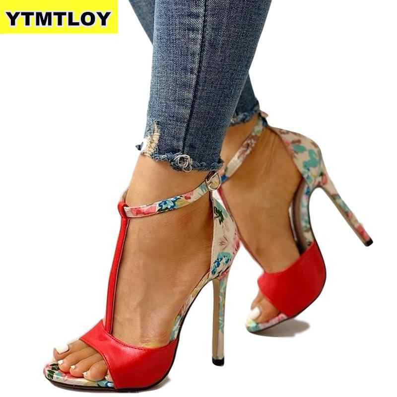 Druck Zapatos Rot Mode Sommer Sexy Exquisite 10 cm High Heels Damen Erhöhte Stiletto Super High Heel Frauen Pumpt