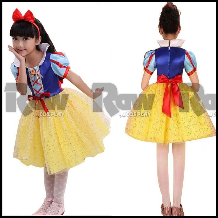 Snow White Costume Children Kids Princess Fantasy Dress Girl Festival Stage Performance Costumes For Women Custom made RAW0075-in Kids Costumes ...  sc 1 st  AliExpress.com & Snow White Costume Children Kids Princess Fantasy Dress Girl ...
