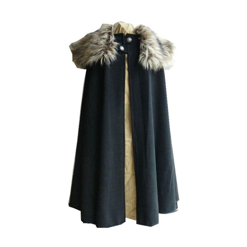 2019 Elegant Cape Autumn Winter Women Black Gothic Long Capes Plus Size  Female Overcoats Vintage Poncho Retro Wool Outwear