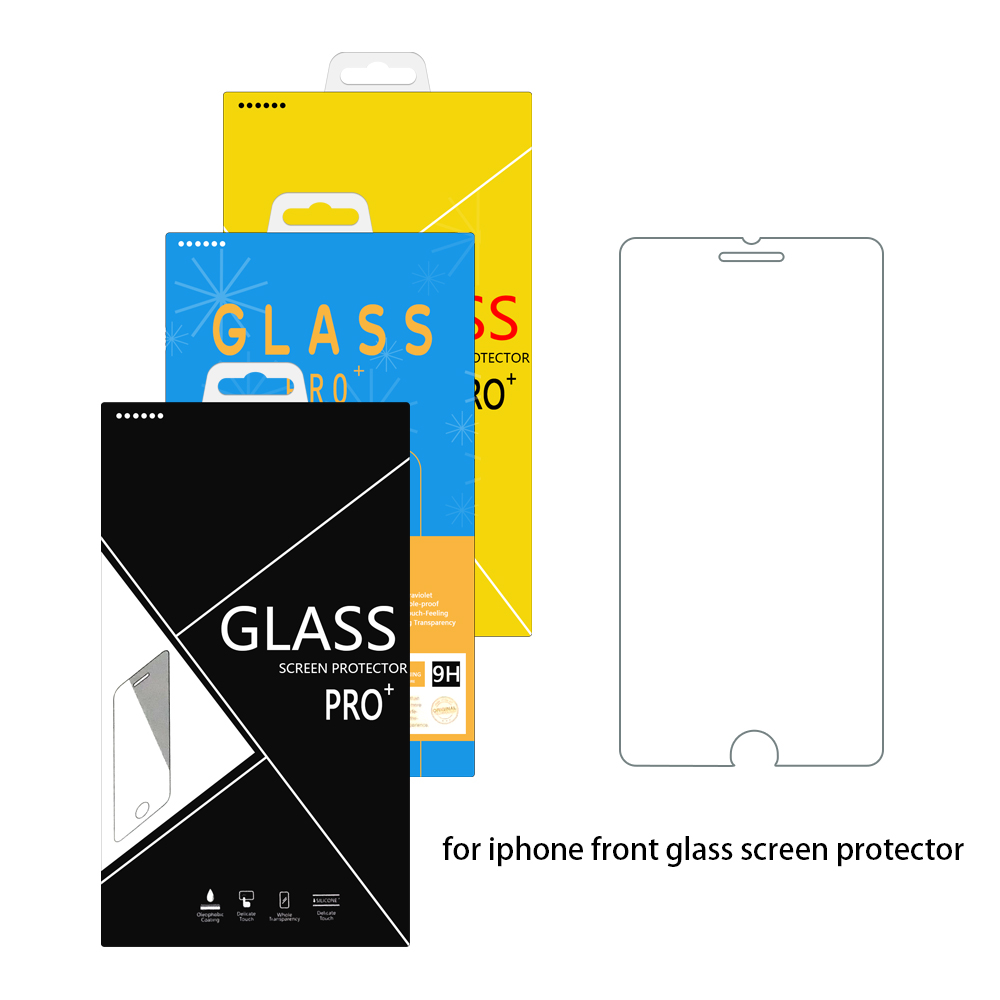 100pcs Anti syattered Film Explosion 9H Tempered Glass Screen Protector For iPhone xs max xr 5