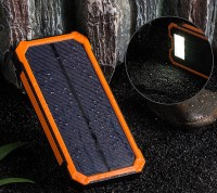 Solar Alternative Battery Phone 20000mAh External Backup Charger Cross Splice Bag Mobile Dual USB LED Replacement