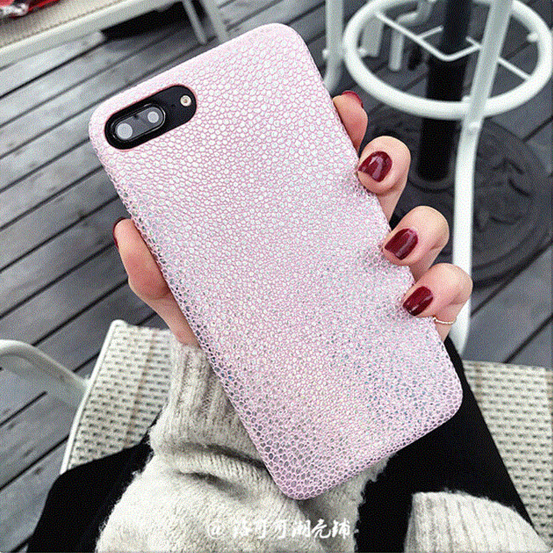 Fashion Pink Bling Mermaid Fish Scales Laser Case For iPhone 8 8 Plus 7 6 6s Plus Phone Cases Colorful Sequins PU Leather covers