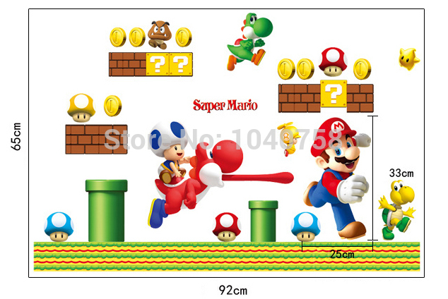 super mario wall stickers Picture - More Detailed Picture ...