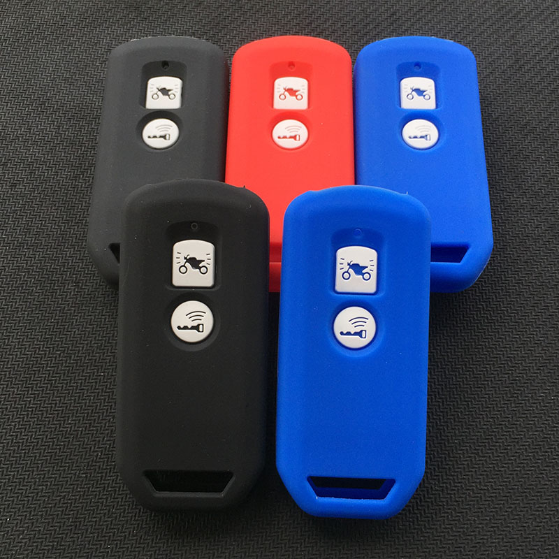 Silicone Motor Key Cover Case Shell For Honda PCX 150 Hybrid X-ADV SH125 Scoopy SH300 Forza 125 2button Key