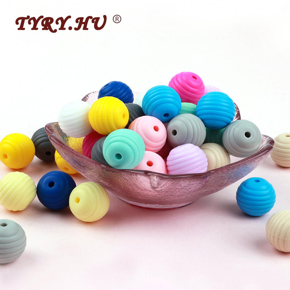 TYRY.HU Silicone Beads Teething Baby Food Grade Silicone Pearls For Baby Diy Teething Necklace Bpa Free Siliconen Loose Beads