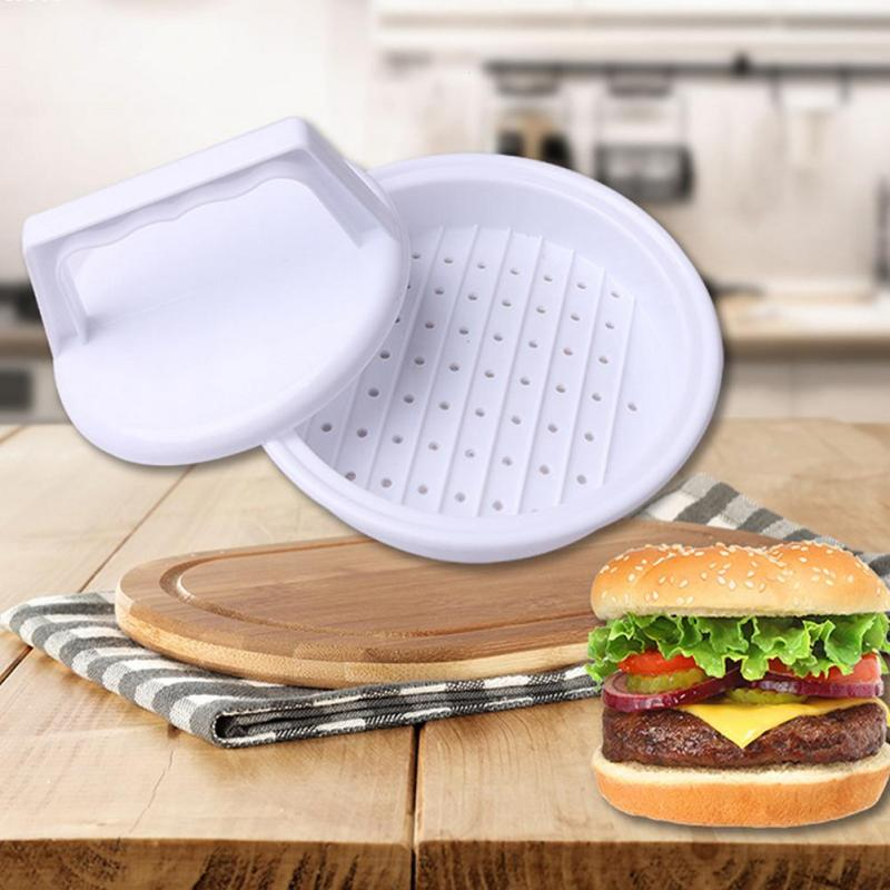DIY Hamburger Presses Beef Grill Burger Makers Meat Pie Mold Plastic Patties Making Device Machine Kitchen Cooking Tool #11030