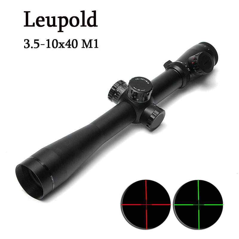 LEUPOLD 3.5-10x40 M1 Tactical Riflescope Optic Sight Red and Green Dot Reticle Scope Hunting Scopes for Airsoft Air Guns discovery vt t 4 5 18x44sfvf white leters reticle side shooting hunting riflescope rangefinder for airsoft air guns