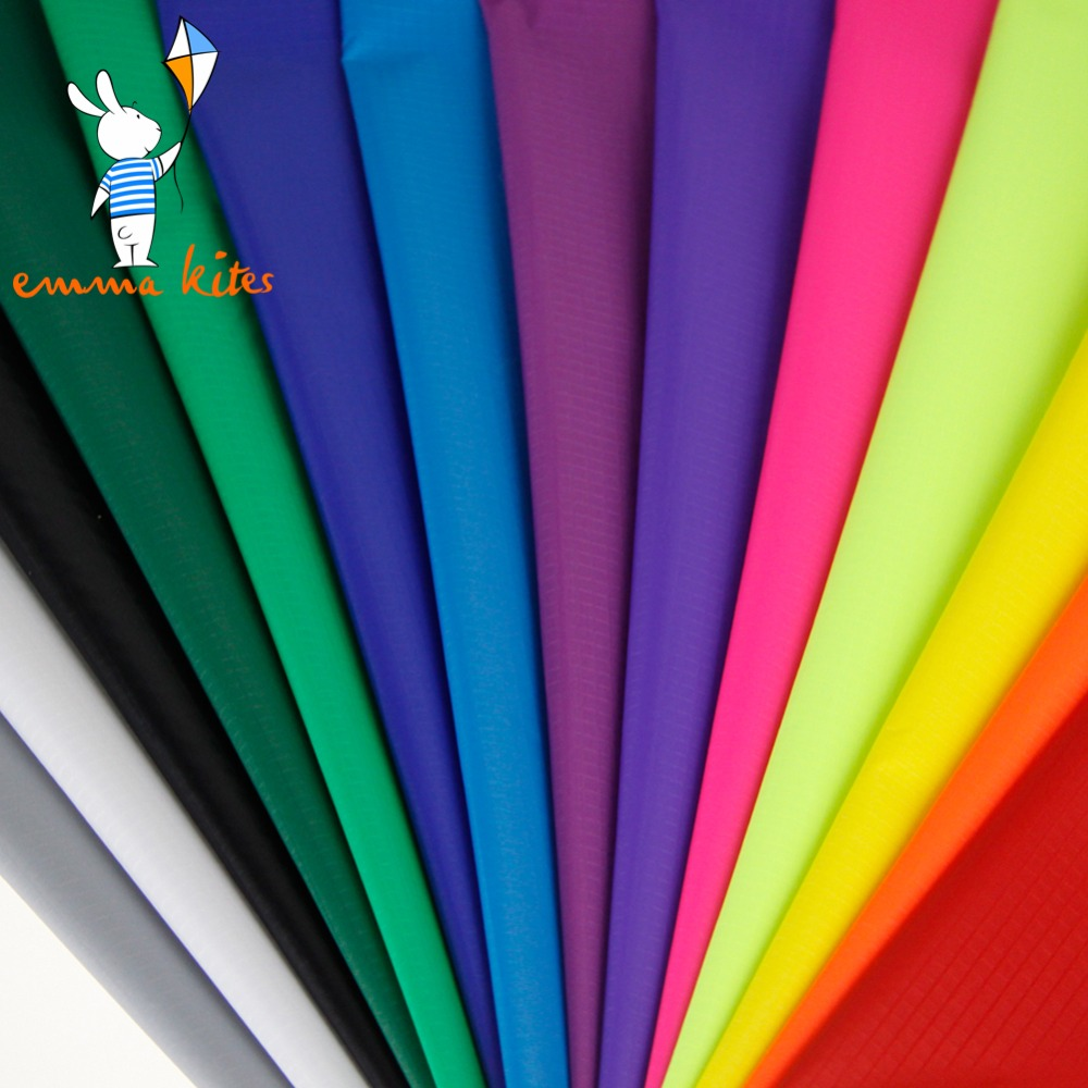 ФОТО Emmakites 16 Colors Ripstop Nylon Fabric Double Sides PU Coated Professional Kite Fabric Cloth Outdoor Waterproof Fabric