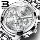 Многофункциональные механические часы для мужчин, швейцарские высококачественные часы Бингер, автоматические часы с календарем, месяцем н...
