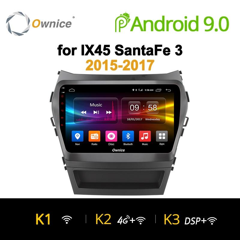Ownice K1 K2 K3 8 Octa Núcleo IX45 android 9.0 jogador do carro dvd Para Hyundai Santa FE 2015 2016 2017 estéreo rádio do carro de navegação gps