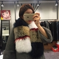 Cachecol de pele Real para as mulheres genuine silver fox fur meninas lenços do vintage da moda grossa quente de alta qualidade lenço da senhora Nova Phoenix