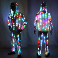 Colorful Led Luminous Costume Clothes Dancing LED Growing Lighting Robot Suits Clothing with Pants Couple Set Event Party Suppli