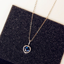 FREE SHIPPING !! Blue Stone Shape Pendant Jewelry JKP937