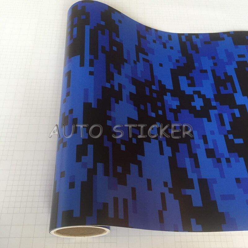 5/10/15/20/25/30 m * 1.52 m Venda Quente Azul Preto Digital filme camuflagem Vinil Adesivo Wraps Motocicleta Dígitos Do Carro Envoltório de Vinil Adesivo - 6