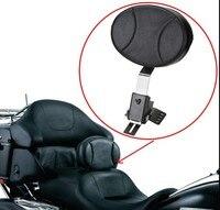 Plug In Driver Rider Backrest Kit For Harley Electra Road Street Glide Road King