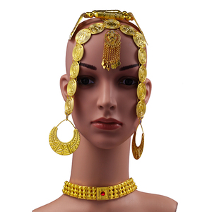 Image 2 - Ethlyn 2019 Latest Gold Color Red Stone Women Eritrean Ethiopian Traditional Wedding Jewelry Sets S112C