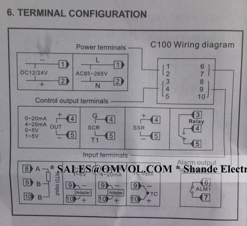 Temperature Controller SSR output REX C100 with thermocouple K 1M