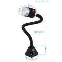 Lâmpada de Trabalho Da máquina Com 50 CM Ferramenta Gooseneck 110 220 V 9 W CONDUZIU a Iluminação Industrial Para Máquina CNC Oficina torno Iluminação Industrial     -