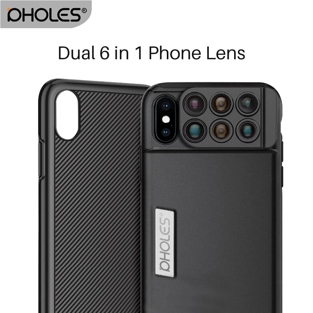 huge discount 0c508 07209 US $30.48 39% OFF|Aliexpress.com : Buy Pholes For iPhone X 6 in 1 Camera  Phone Lens Fisheye Wide Angle Macro Lens 20X Telephoto Mobile Phone Zoom ...