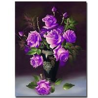 DIY 5D Diamanti Ricamo Purple Rose Vaso Magic Cube diy Pittura Diamante Punto Croce Kit di Diamante Mosaico fiore Home Decor