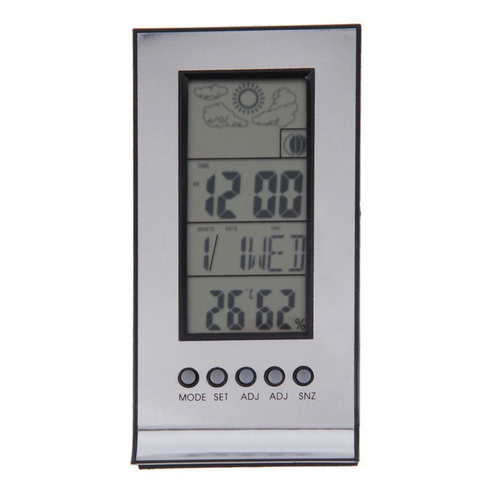Hot Indoor Outdoor Wireless Thermometer Weather Station Alarm Clock ...