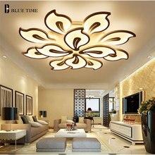 Lámpara de techo Led de acrílico con acabado en negro y blanco para sala de estar dormitorio comedor lámpara de techo