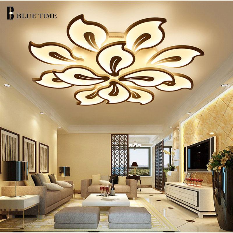 White&Black Finished Modern Led Ceiling Light For Living room Bedroom Dining room Lustres Acrylic Led Ceiling Lamp Light Fixture-in Ceiling Lights from Lights & Lighting