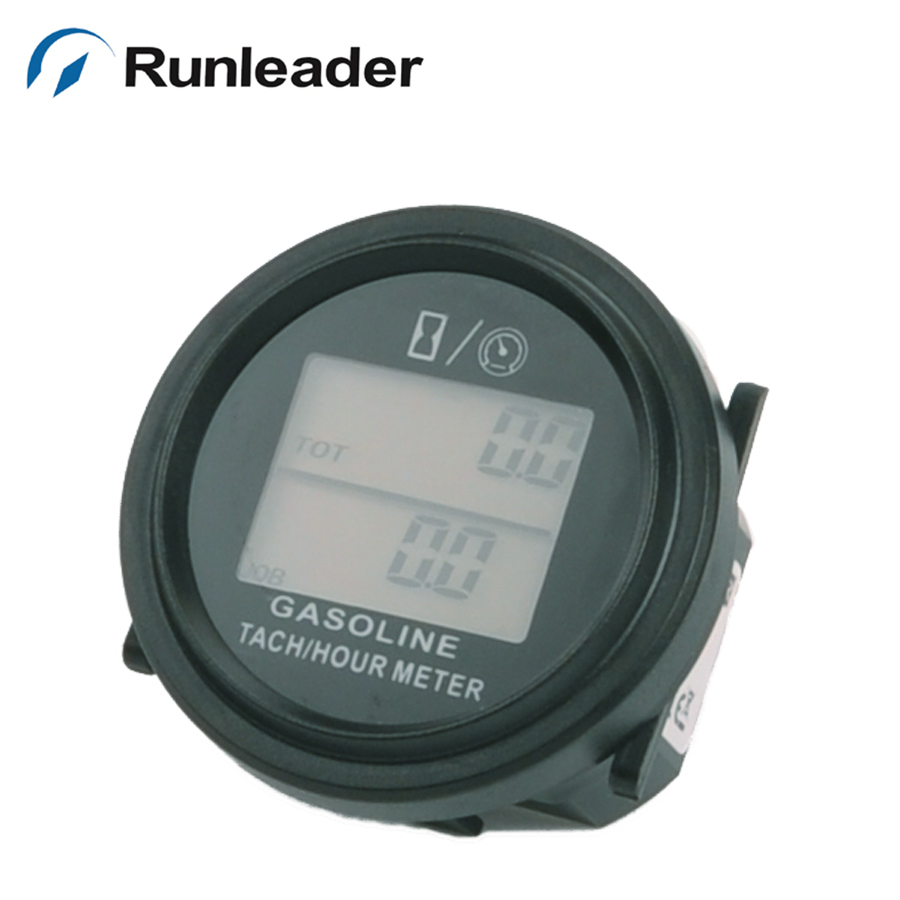 SNAP IN LCD Digital Tach Hour Meter Tester Tachometer Hourmeter Gauge Gas Engine ATV Snowmobile lawn mower Boat digital backlight hour meter hourmeter tachometer for motocross jet ski atv snowmobile mower outboard chainsaw forklift truck