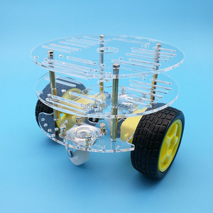 Image 5 - 1set 2WD Smart Robot Car 3 Layer Acrylic Chassis Kits with Speed Encoder For Arduino Promotion Free Shipping