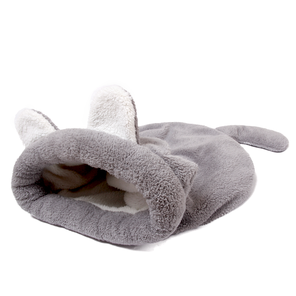 Dog Bed Soft Warm Lovely Design sleeping bag Cat House Pet Supplies Mats Puppy Cushion Rabbit Bed Funny Pet Products 2 colors