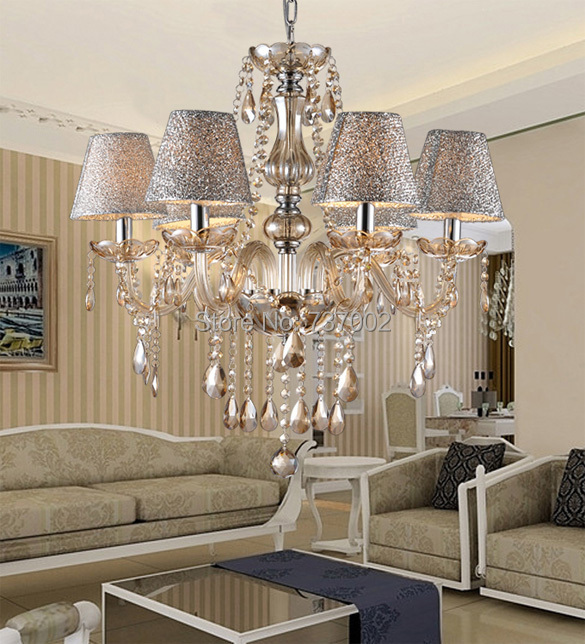 White Crystal Lighting Chandeliers Modern crystal chandelier for ...