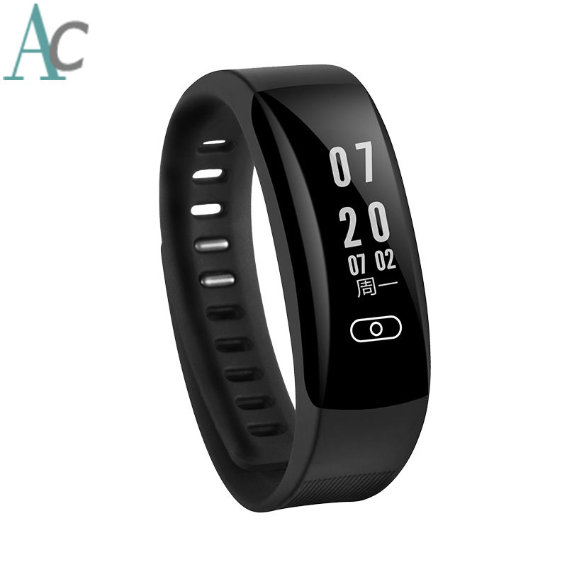 Brand New Fitness Bracelet Wearable Devices Support 12 Language Russian French Pedometer Bracelets Heart Rate Monitor Watch In Smart Wristbands From