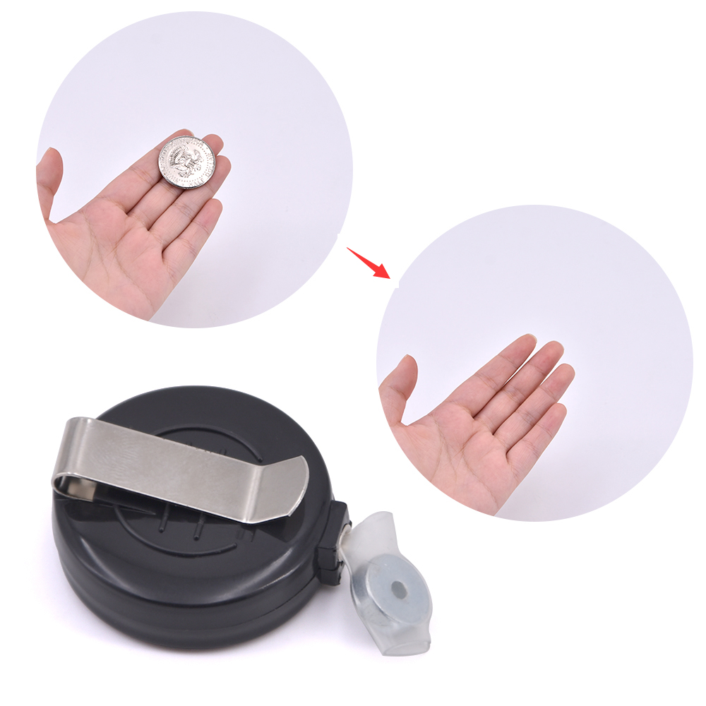 1pc Coins Disappear Device Tool Transparent Thread Magic Tricks Magician Close Up Street Accessory Gimmick Props
