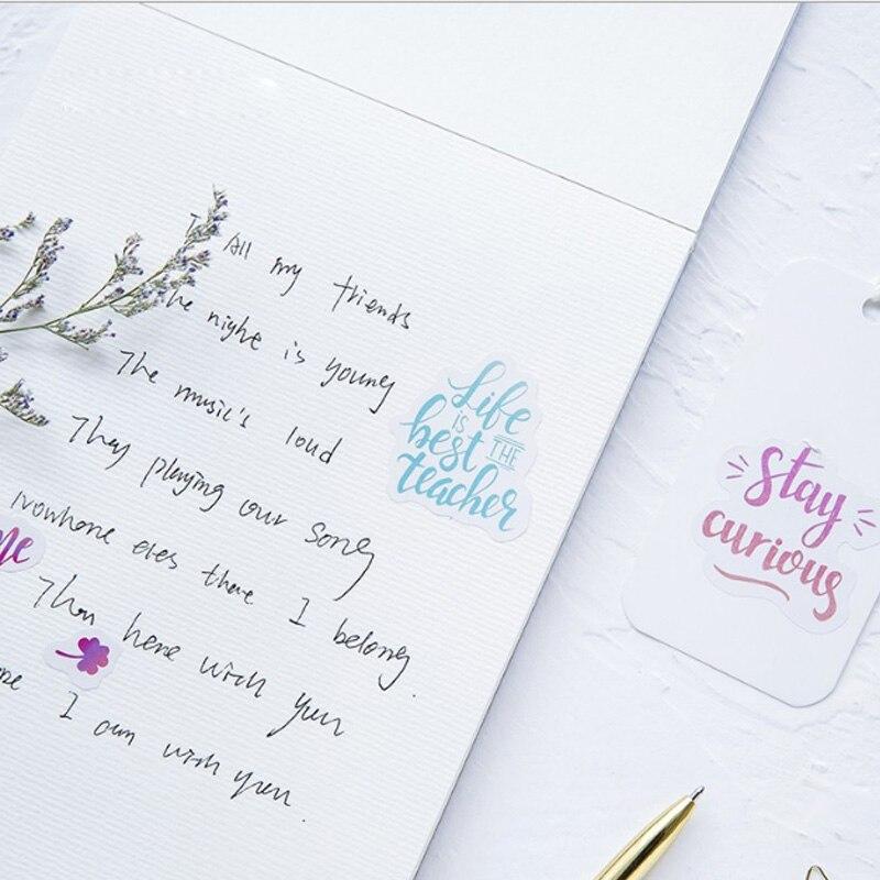 Купить с кэшбэком 46 Pcs/box Colorful mood Mini Paper Decoration DIY Scrapbook Notebook Album Sticker Stationery Kawaii Girl Sticker