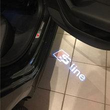 Фотография kanuoc Car LED Door Warning Logo Light Audi Sline A3 A4 B5 B6 B7 B8 A6 C5 A5 Q3 Q5 Q7 80 TT A1 A2 100 A7 A8 S3 S4 Quattro R8 RS