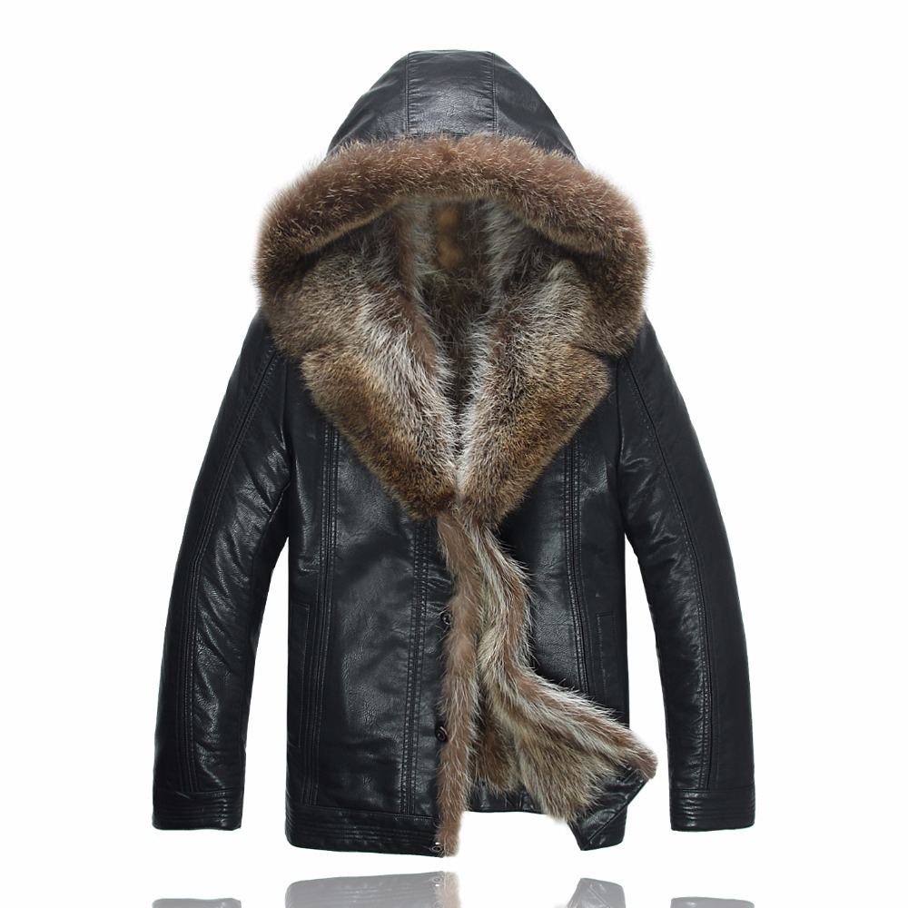 Leather Jacket Men Winter Jackets Men S Coats Thickening
