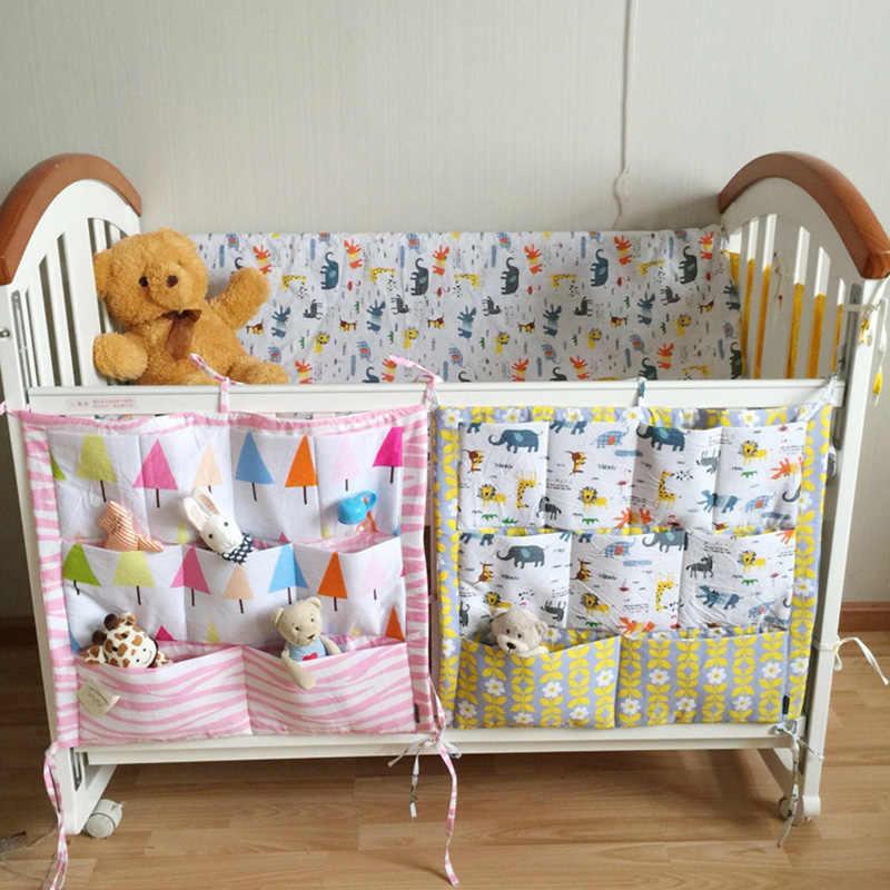 Детская кроватка кровать висит сумка для хранения хлопок кроватки Организатор, игрушка карман для пеленок для детская кроватка комплект Аксессуары для колясок 52*58 см