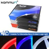 KAMMURI Car Styling 4D cold light Led Rear Emblem Logo Light for Mercedes Benz w221 s350 s300l 8.7cm Rear Badge Logo Light
