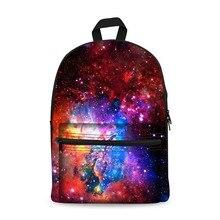 Canvas Backpack Black Daypack laptop Bag Galaxy Star Universe Design for Boys Girls School mochila