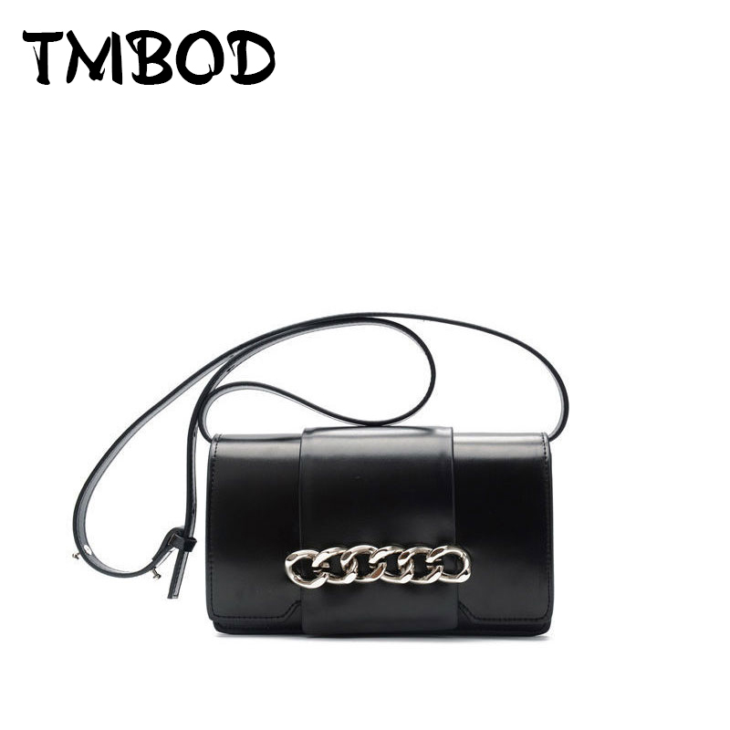 New 2018 Cool Design Women Chain Flap Messenger Bag Lady Split Leather Handbags Chic Crossbody Bags For Female bolsas an860 cool design multi layed chain bracelet for women