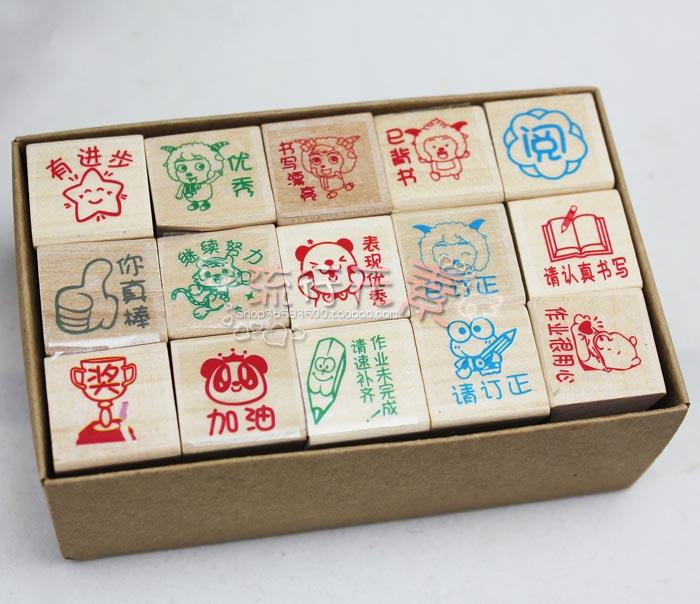 5 sets teacher  stamp  well done good  prise small cartoon stamp 15 pscs/set sahar cases чехол what is done in love is done well samsung galaxy s4 s4mini
