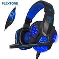 Gaming Headphone Over-ear Stereo Baixo fone de ouvido com Microfone para PC Computador Fone De Ouvido Barulho Cancelar fone de Ouvido Com Fio com Luz LED