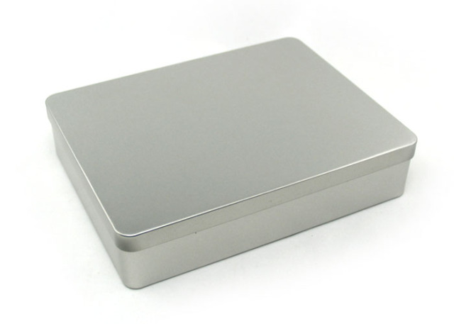 1 PC Silver Tin Metal Box Storage Protected Upscale Gift Box Desktop Packing